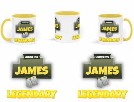 Personalised Name Legendary Fortnite Inspired Battle Royale Style Ceramic Mug